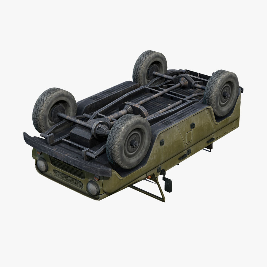 UAZ-3151 Militair royalty-free 3d model - Preview no. 13