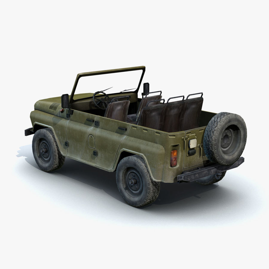 UAZ-3151 Militair royalty-free 3d model - Preview no. 6