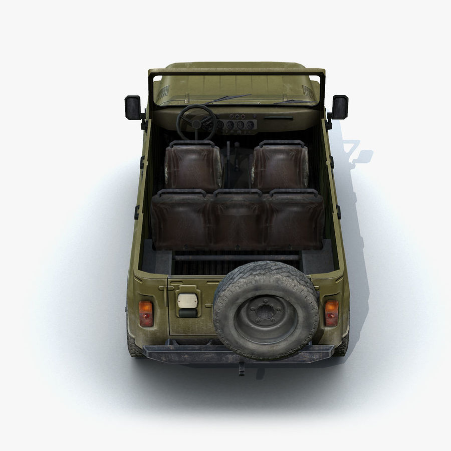 UAZ-3151 Militair royalty-free 3d model - Preview no. 8