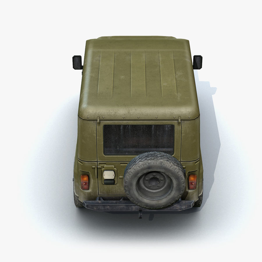UAZ-3151 Militair royalty-free 3d model - Preview no. 9