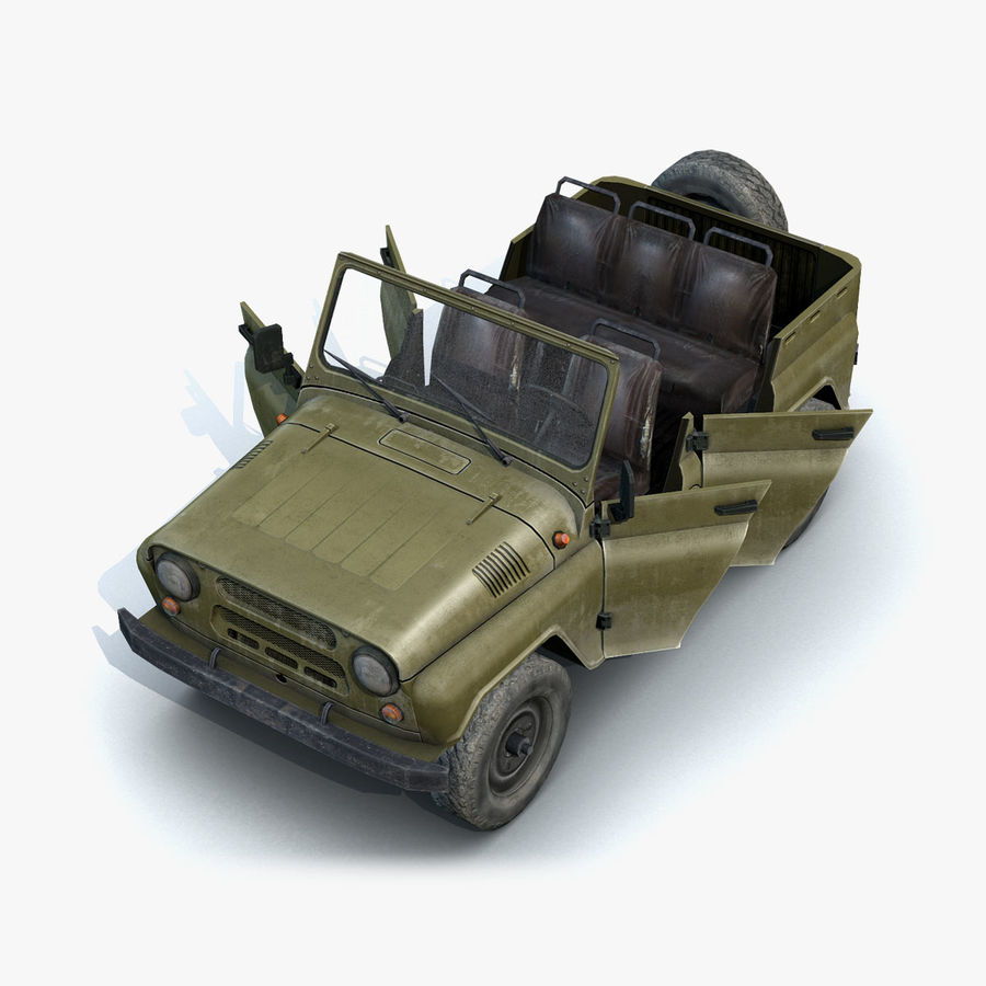 UAZ-3151 Militair royalty-free 3d model - Preview no. 12