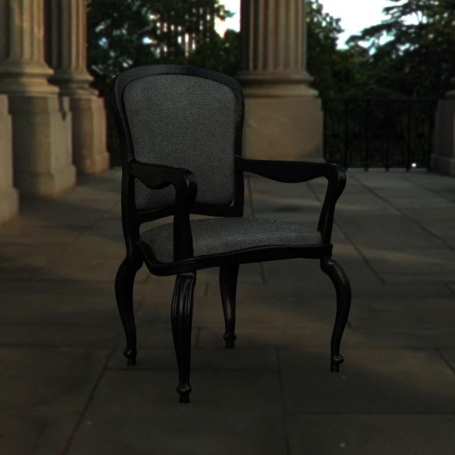 Античный стул royalty-free 3d model - Preview no. 2