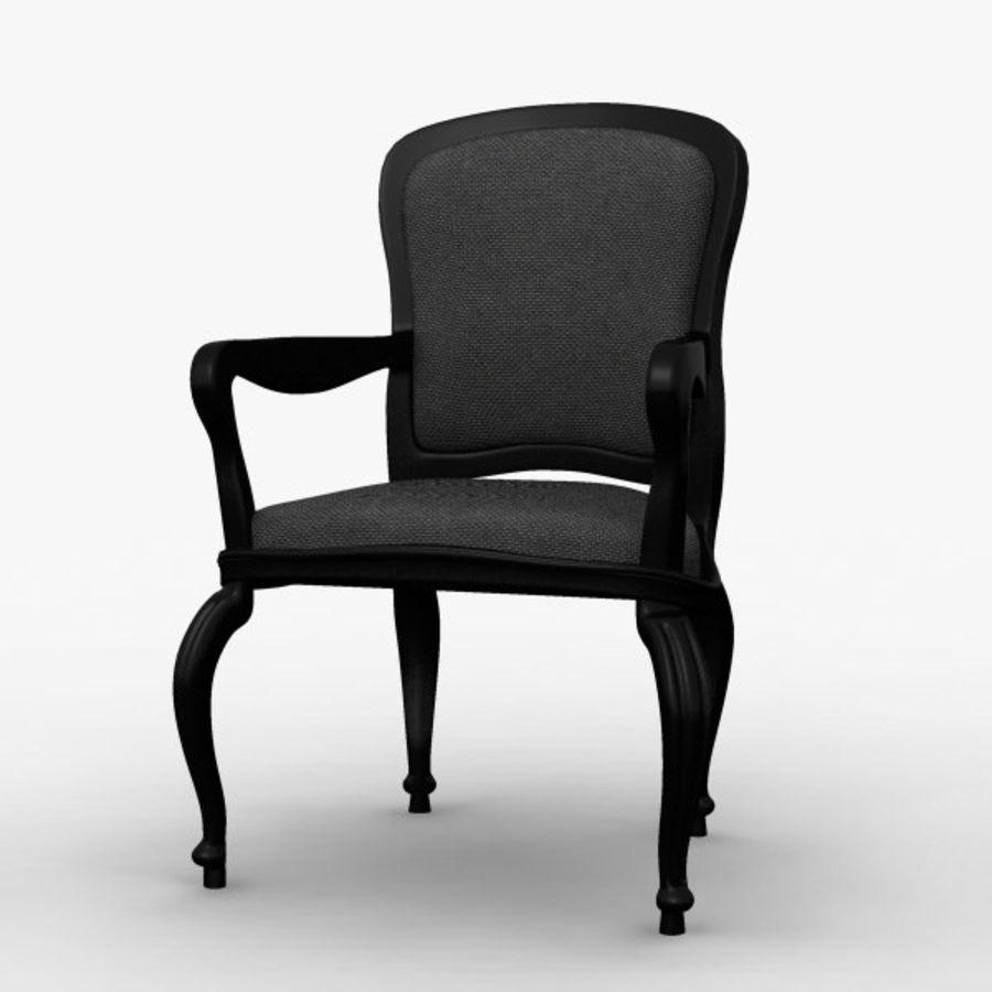Античный стул royalty-free 3d model - Preview no. 6