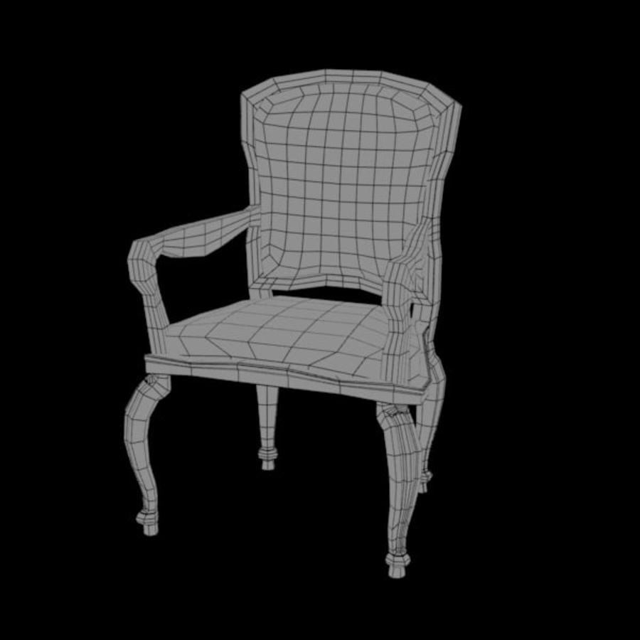 Античный стул royalty-free 3d model - Preview no. 4