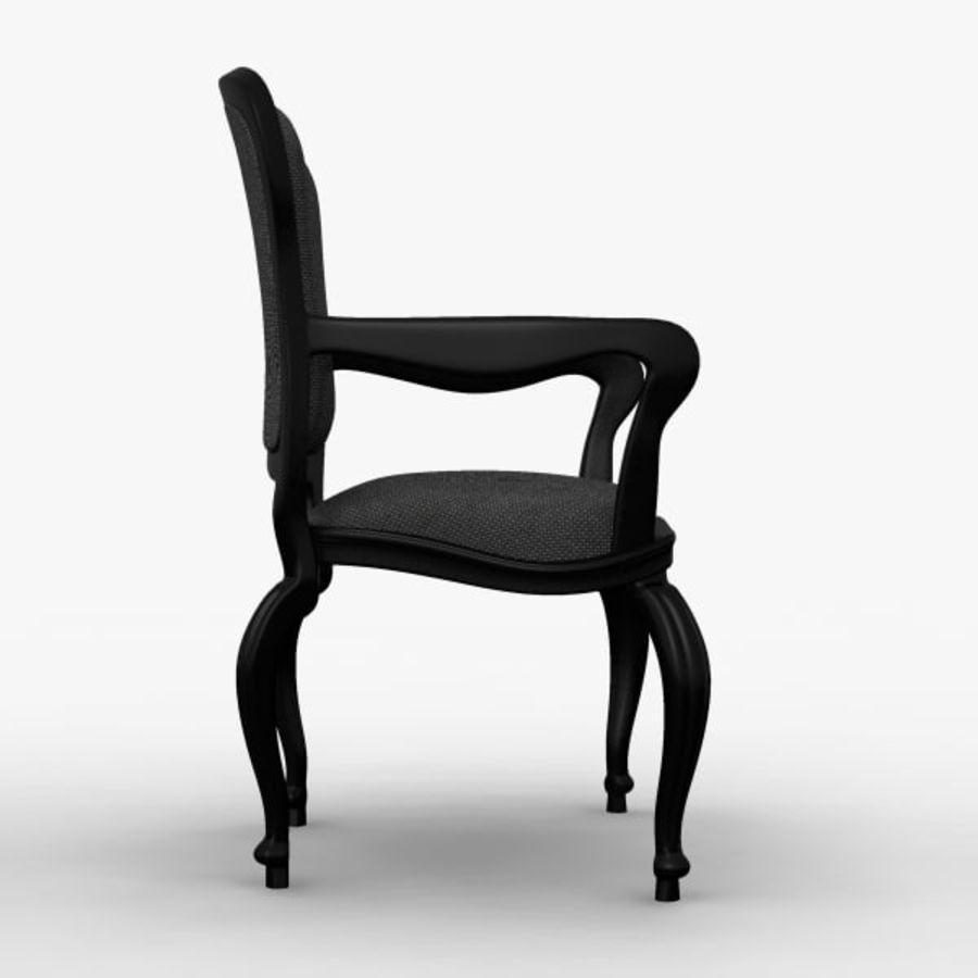 Античный стул royalty-free 3d model - Preview no. 3