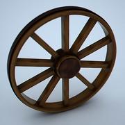 나무 바퀴 3d model