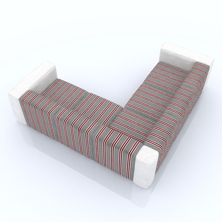 Soffa 01 5 royalty-free 3d model - Preview no. 3