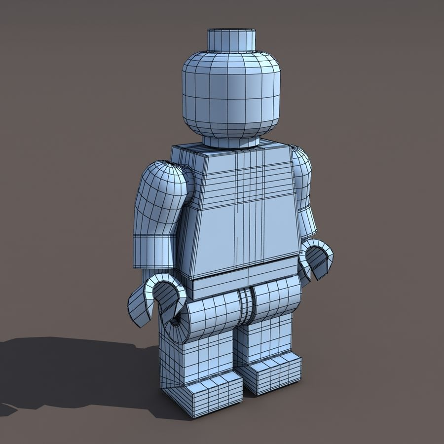 Lego Man royalty-free 3d model - Preview no. 7