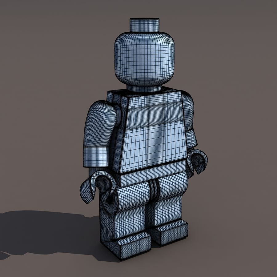 Lego Man royalty-free 3d model - Preview no. 6