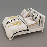Bed collection 38 3d model
