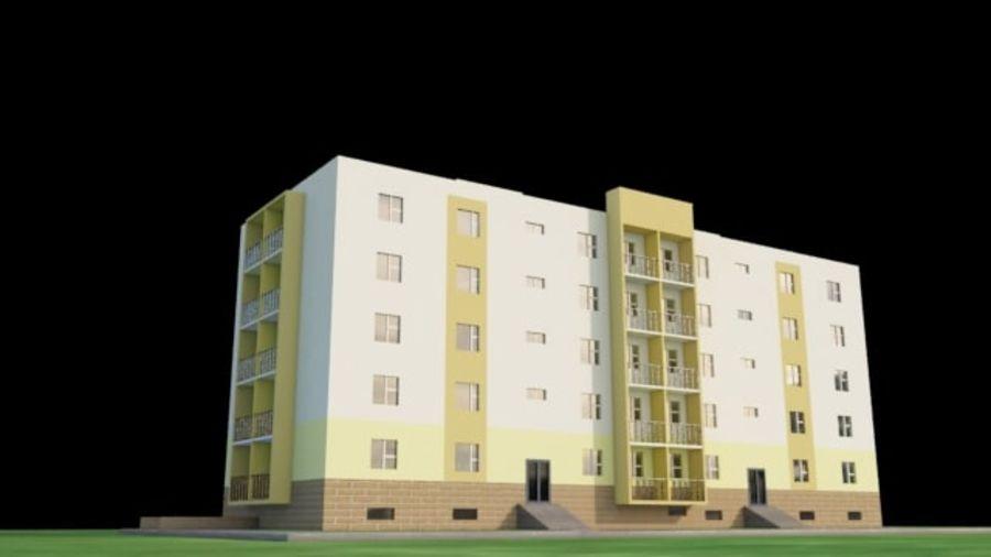 appartement 3 gratuit royalty-free 3d model - Preview no. 1