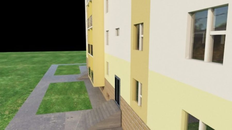 appartement 3 gratuit royalty-free 3d model - Preview no. 4