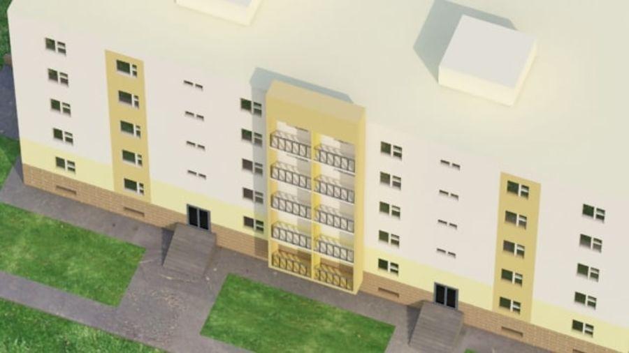 appartement 3 gratuit royalty-free 3d model - Preview no. 2