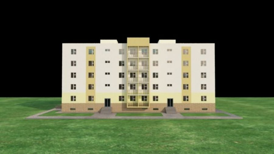 appartement 3 gratuit royalty-free 3d model - Preview no. 5