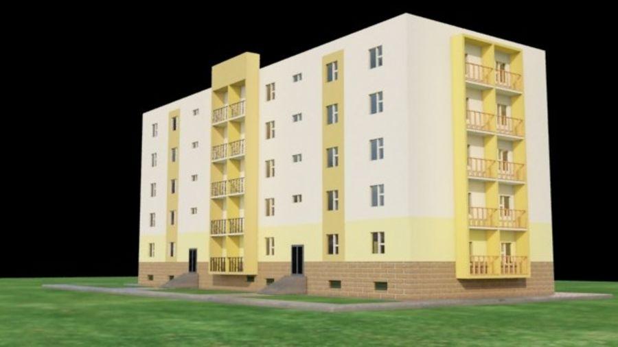 appartement 3 gratuit royalty-free 3d model - Preview no. 3