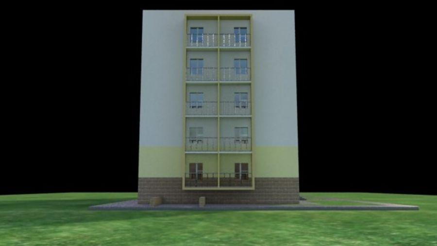 appartement 3 gratuit royalty-free 3d model - Preview no. 6