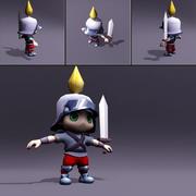 Chibi Knight 3D Model 3d model