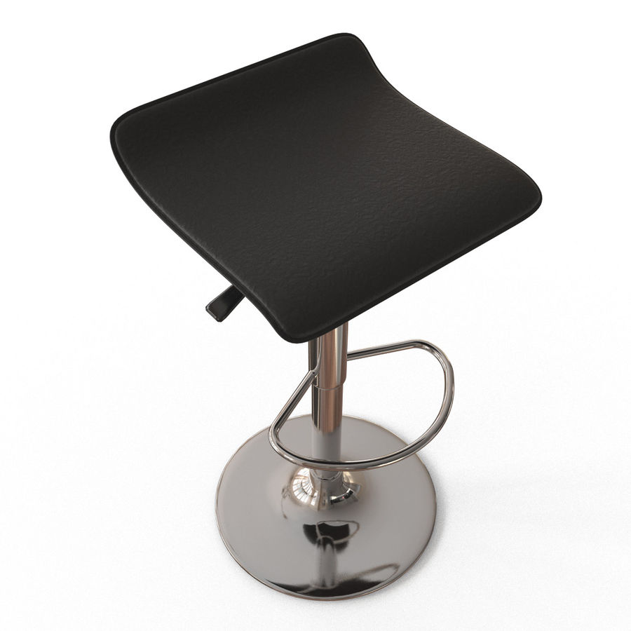 Chair Bar Stool royalty-free 3d model - Preview no. 2
