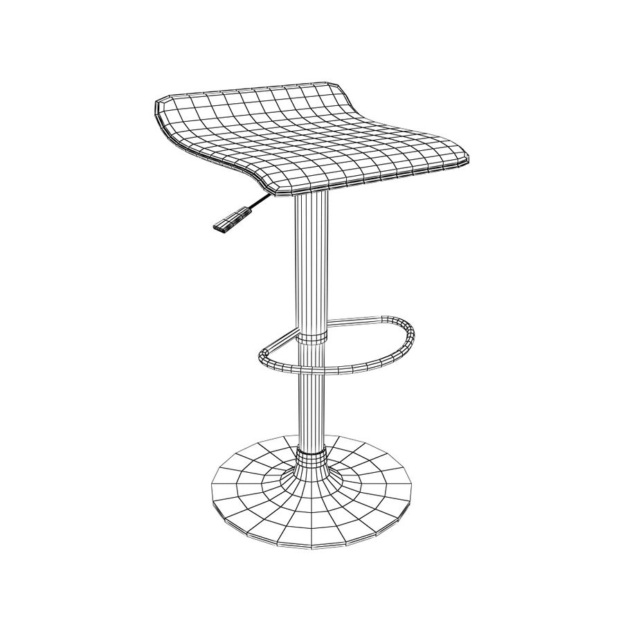 Chair Bar Stool royalty-free 3d model - Preview no. 5
