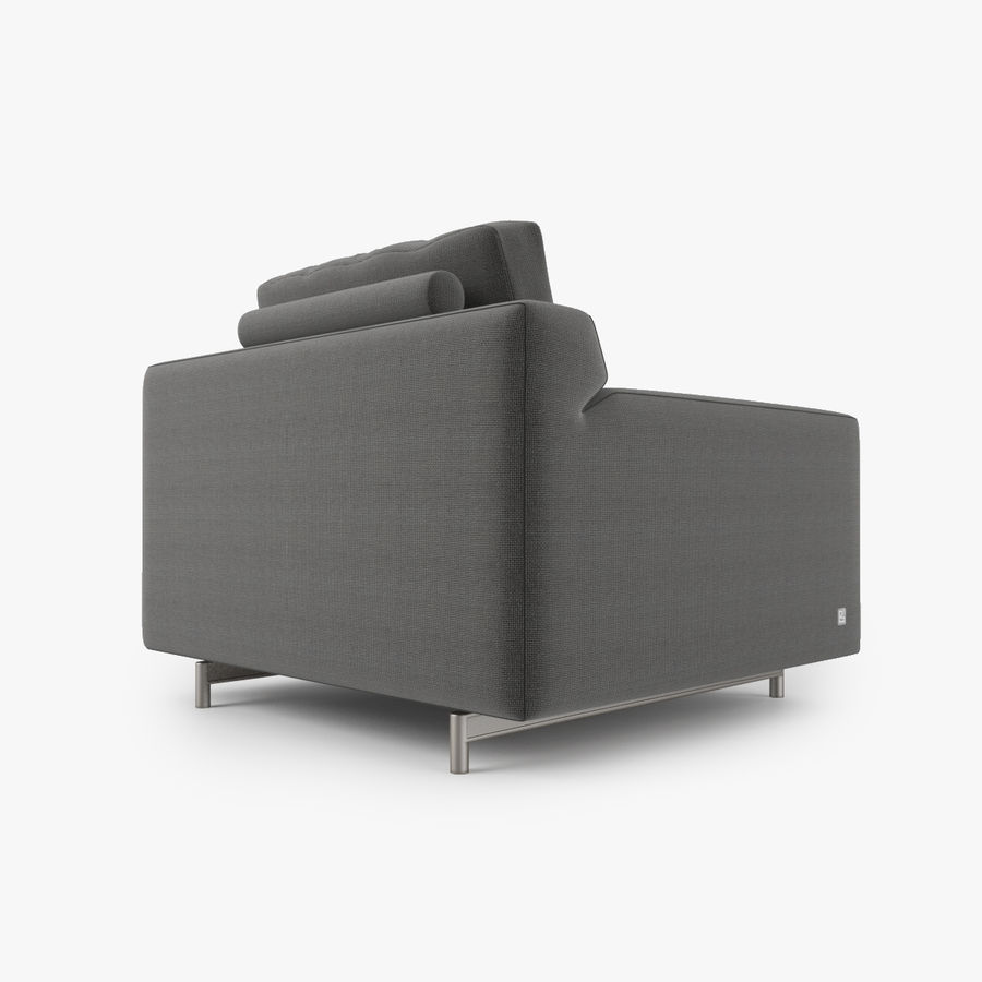 Busnelli Taylor fauteuil royalty-free 3d model - Preview no. 3
