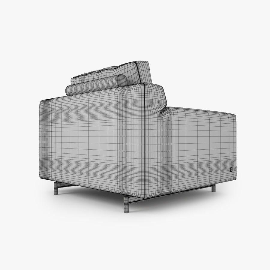 Busnelli Taylor fauteuil royalty-free 3d model - Preview no. 5