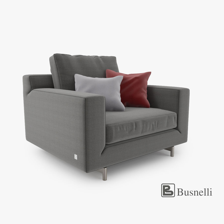 Busnelli Taylor fauteuil royalty-free 3d model - Preview no. 1