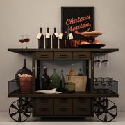 Dekoratif şarap kümesi 3d model