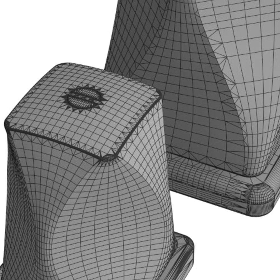 kran łazienka kran nowoczesny współczesny royalty-free 3d model - Preview no. 5