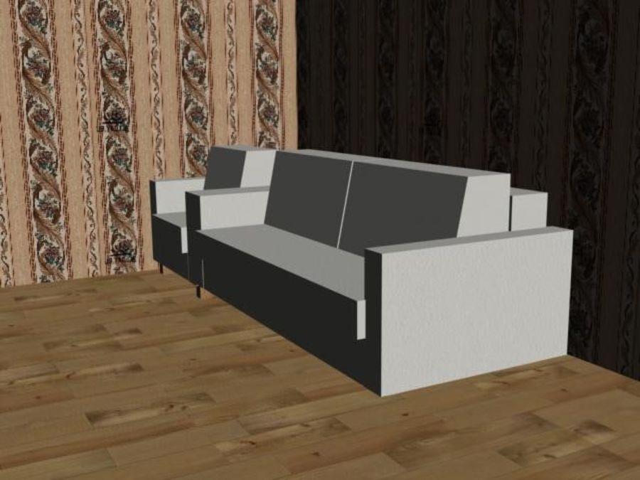 沙发+椅子 royalty-free 3d model - Preview no. 4