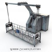 Plateforme de nettoyage de vitres 3d model