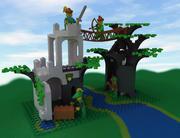 Lego Orman Adamları Geçişi 3d model