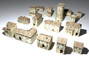 Samodzielne przedmioty Borgo Medievale 3d model