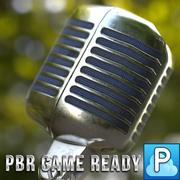 vintage mikrofon oyunu hazır 3d model