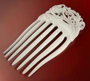 Pente de cabelo de flor (imprimível) 3d model