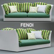 диван Fendi на открытом воздухе 3d model