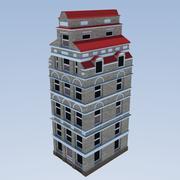 Голландский Low_Poly Городской Дом 3d model