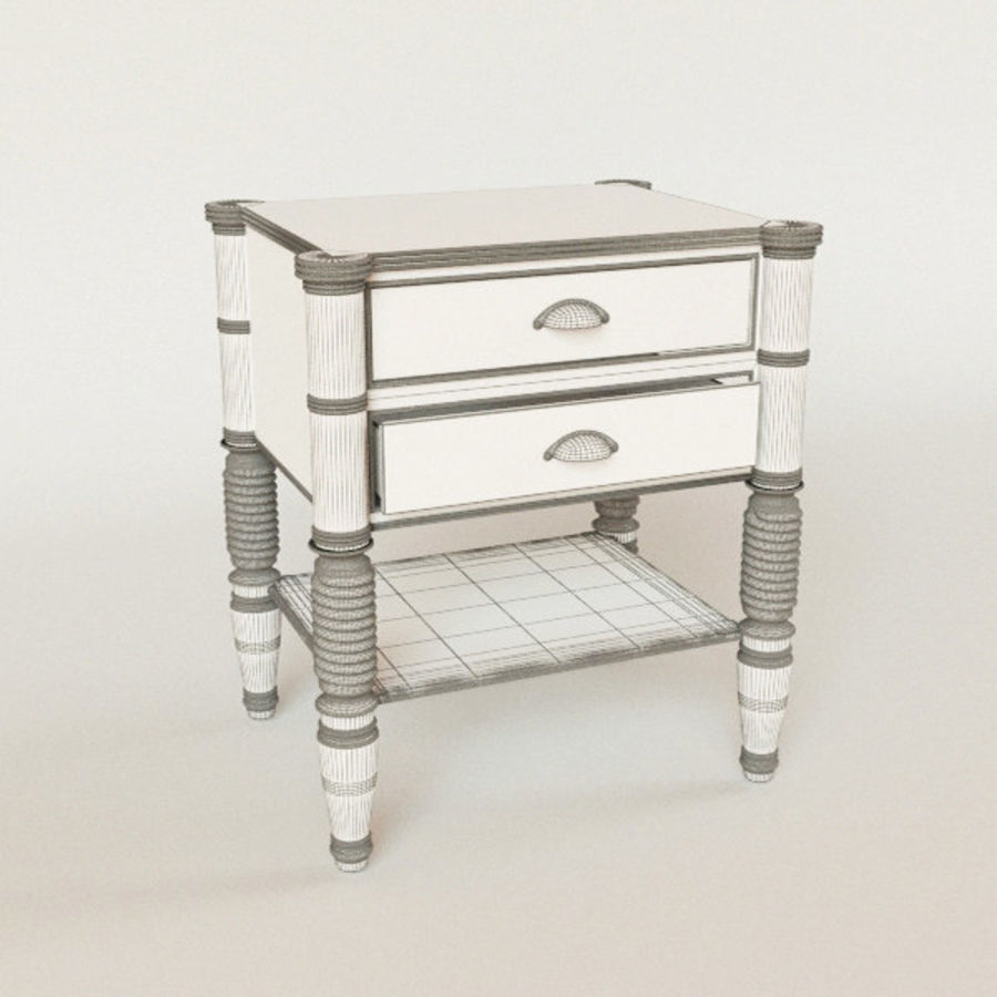 bedside table Larry Deco royalty-free 3d model - Preview no. 3