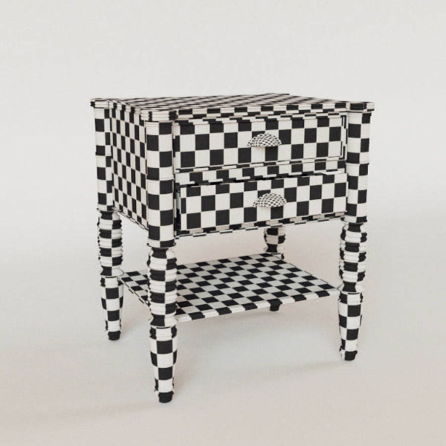 bedside table Larry Deco royalty-free 3d model - Preview no. 4