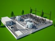 central eléctrica modelo 3d
