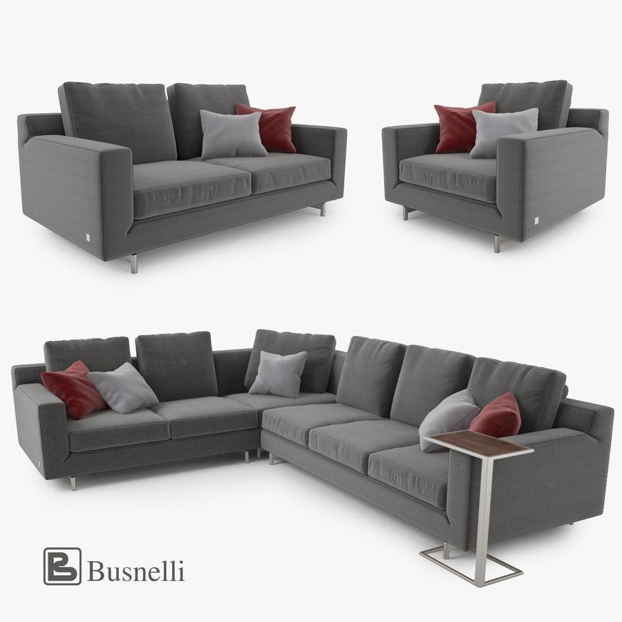 Busnelli Taylor bankstel royalty-free 3d model - Preview no. 1