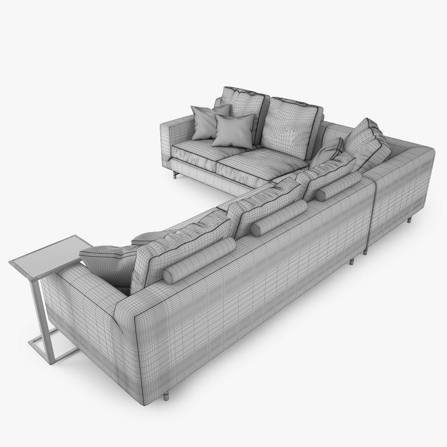 Busnelli Taylor bankstel royalty-free 3d model - Preview no. 16