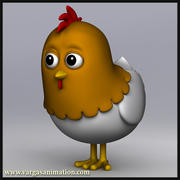 Cartoon Chicken 3d model