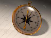 Handheld compass 3d model