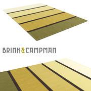 Brink & Campman tapis tufté main blanc Luna 3d model
