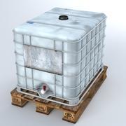 Ciekły plastikowy zbiornik na palecie 3d model
