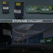 ストレージ廊下 3d model