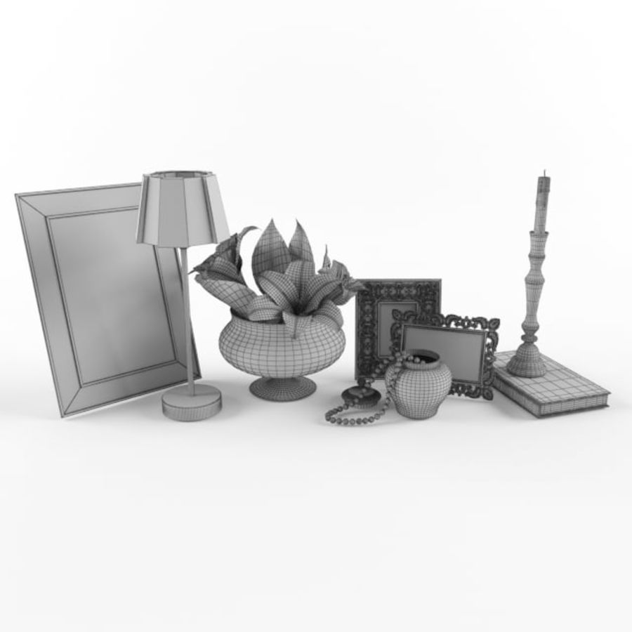 decorative set royalty-free 3d model - Preview no. 3