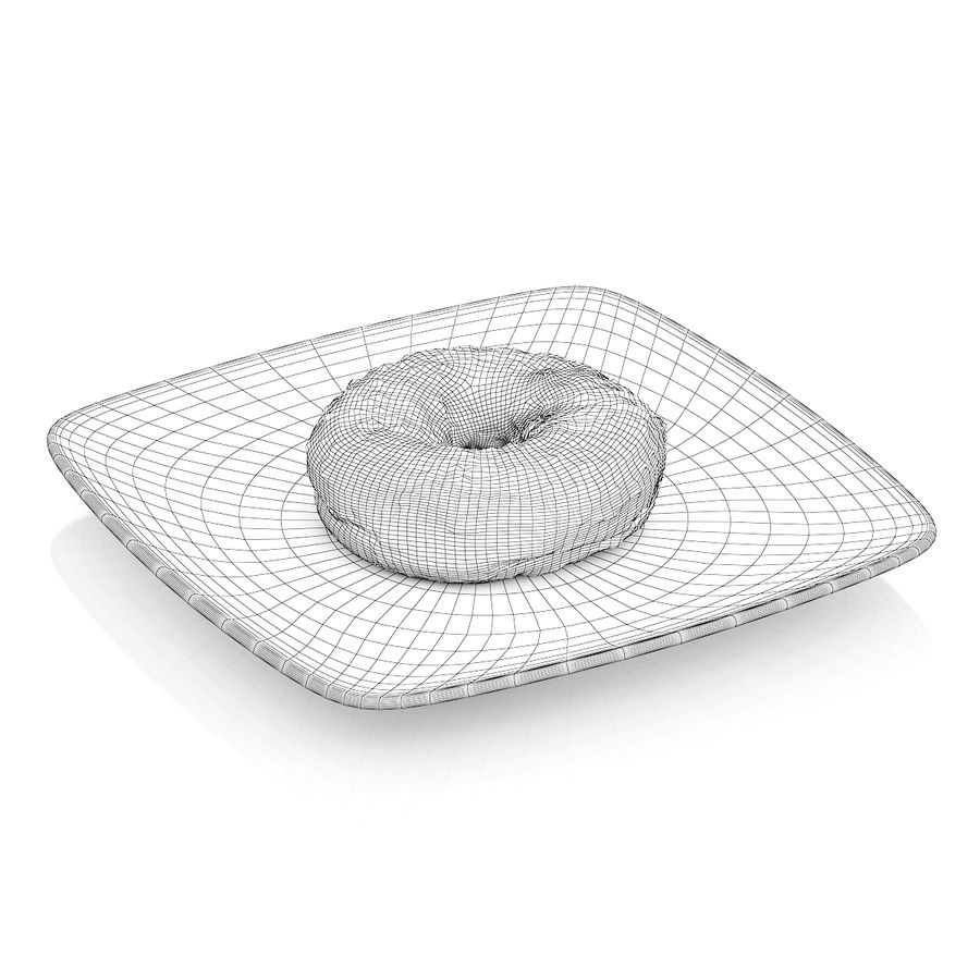 Donut with chocolate royalty-free 3d model - Preview no. 4