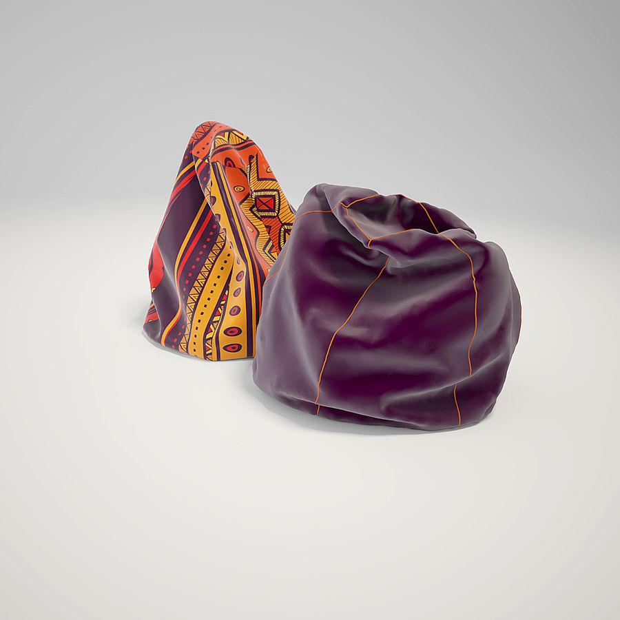 bean bag chair royalty-free 3d model - Preview no. 1