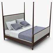 Hickory furniture - Tompkins bed 3d model